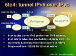 6to4 tunnel ipv6 over ipv4