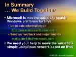 in summary we build together