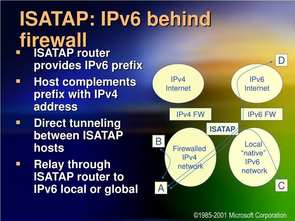 ISATAP router provides IPv6 prefix