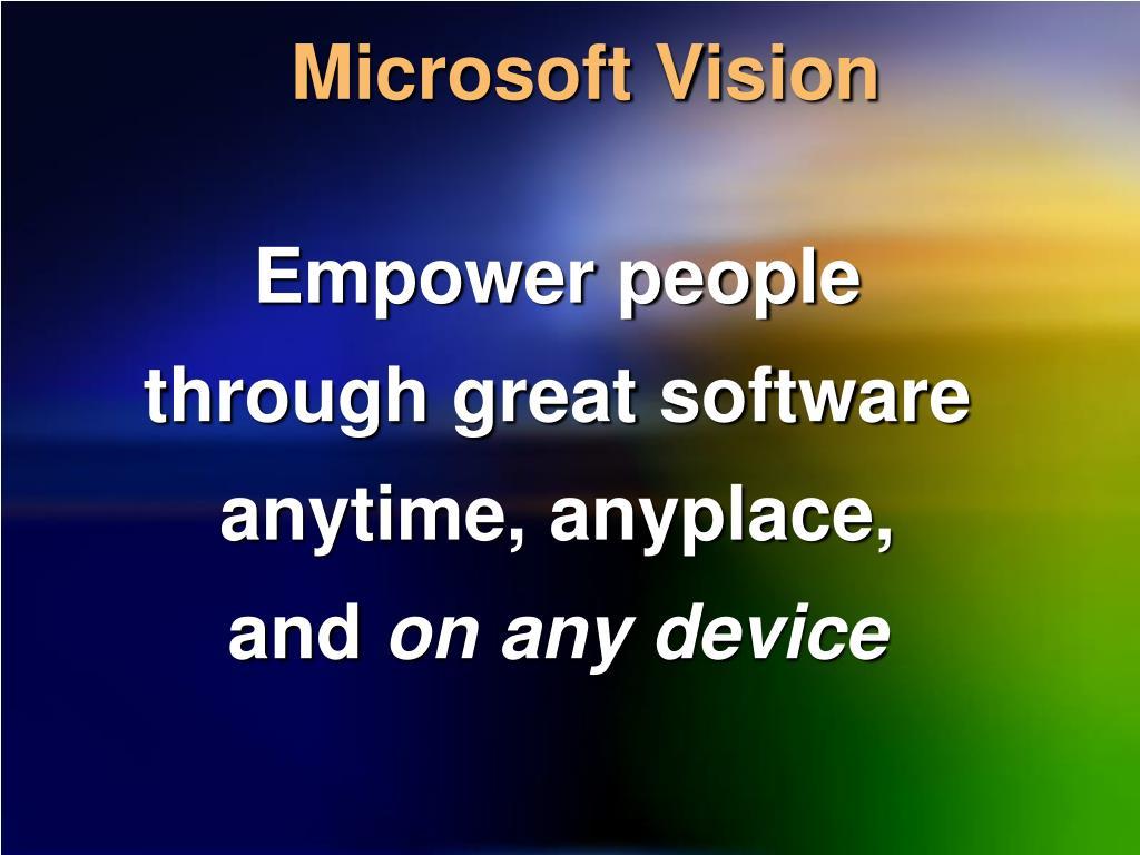 Microsoft Vision