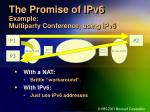 the promise of ipv6 example multiparty conference using ipv6