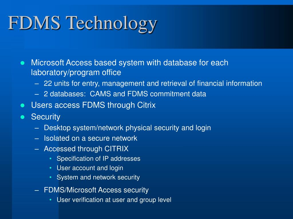 FDMS Technology