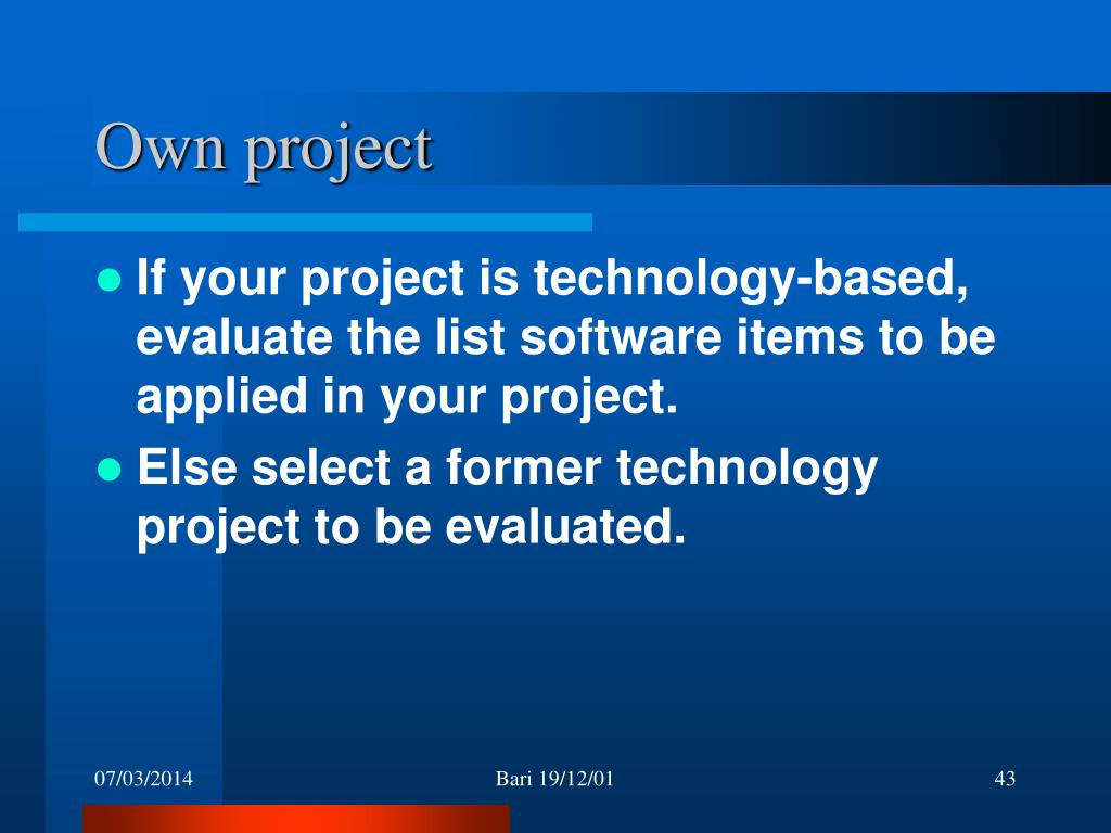 Own project