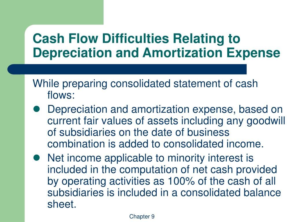 Cash Flow Difficulties Relating to Depreciation and Amortization Expense