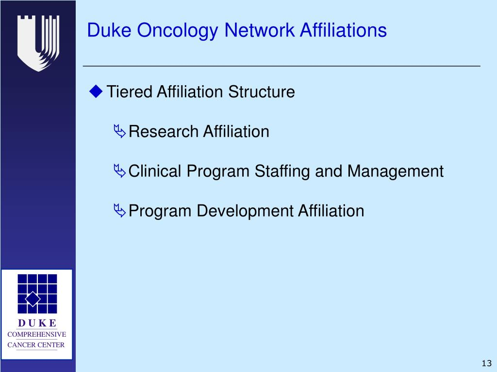 Duke Oncology Network Affiliations