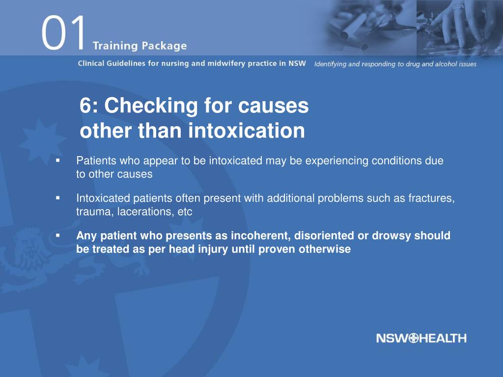 6: Checking for causes