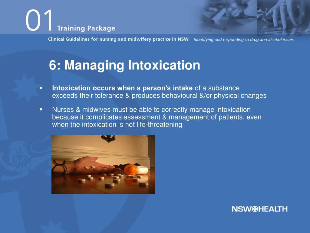 6: Managing Intoxication