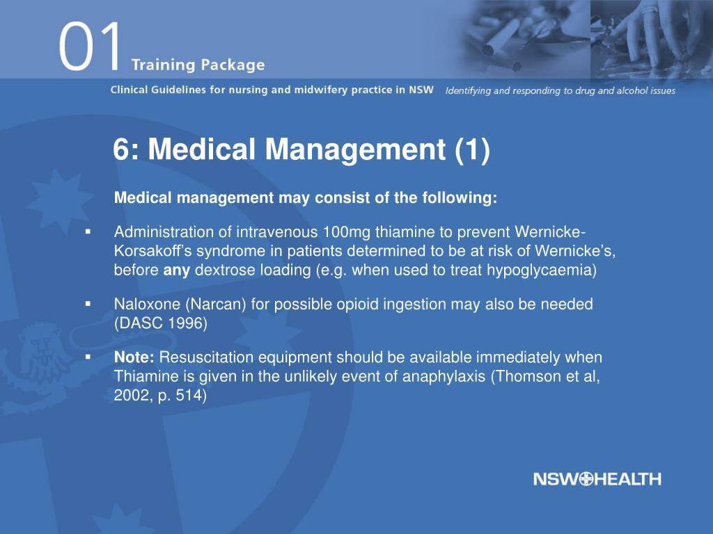 6: Medical Management (1)