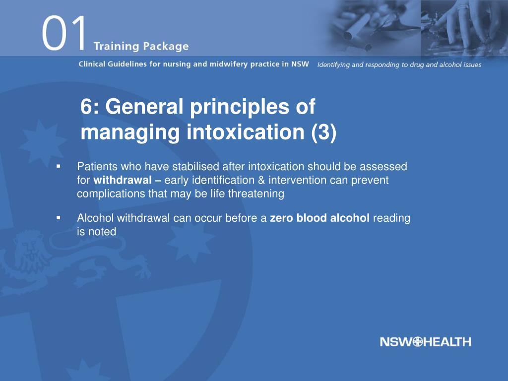 6: General principles of