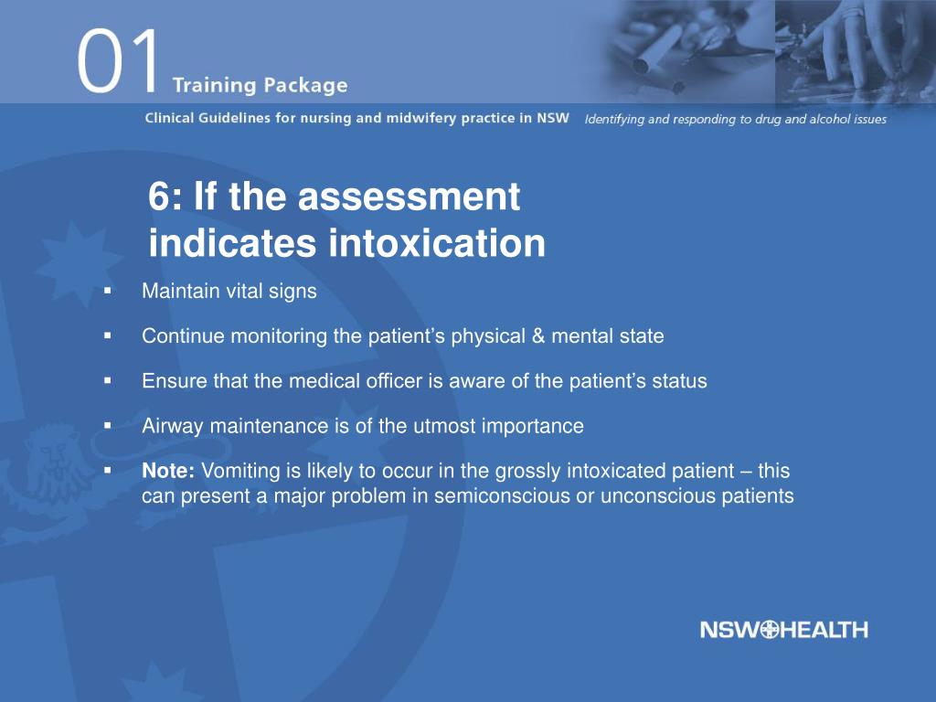 6: If the assessment