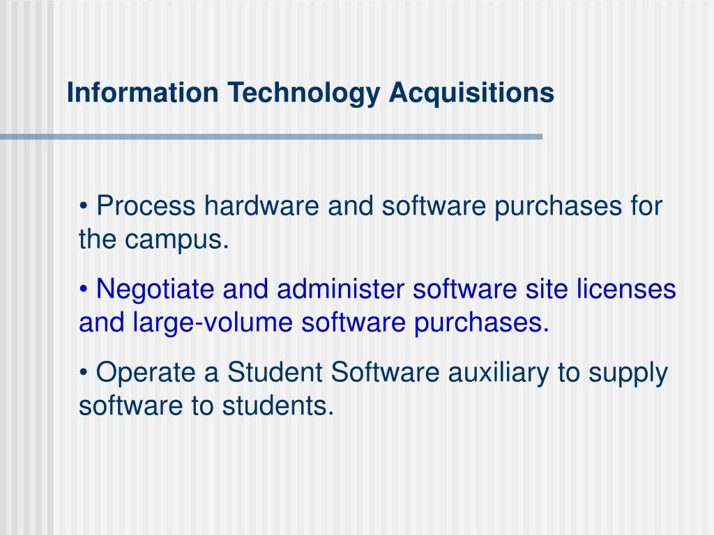 Information Technology Acquisitions