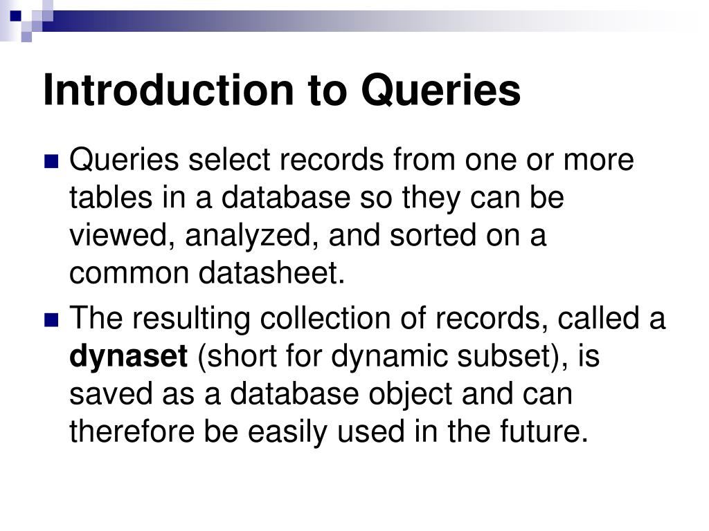 Introduction to Queries