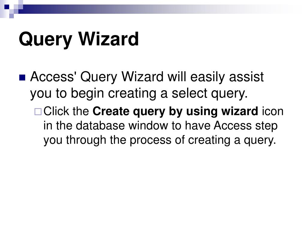 Query Wizard