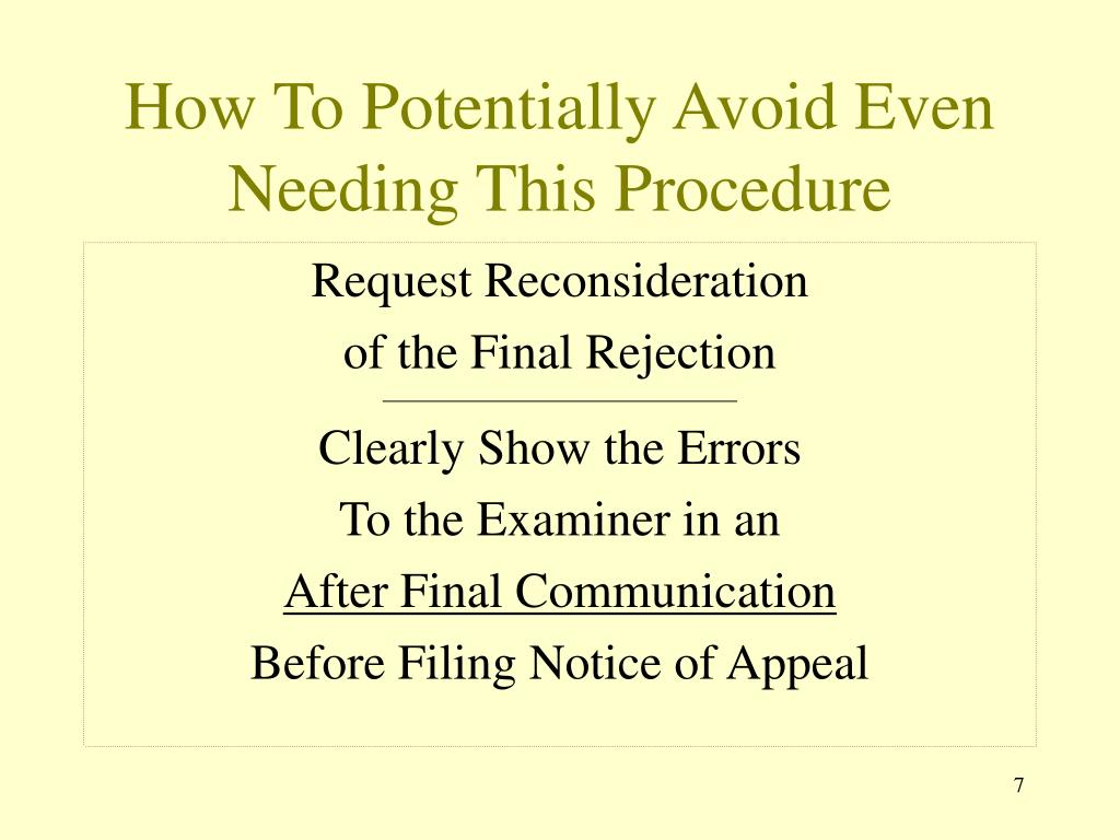 How To Potentially Avoid Even Needing This Procedure