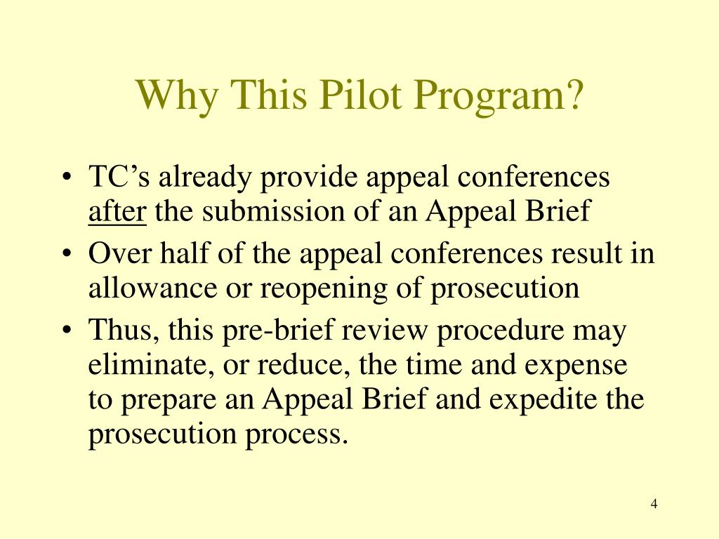 Why This Pilot Program?