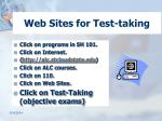web sites for test taking