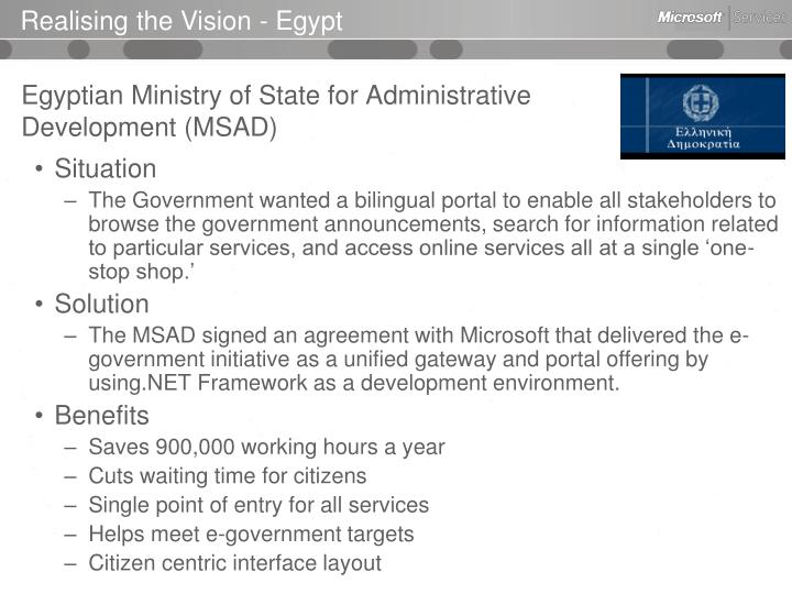 Realising the Vision - Egypt