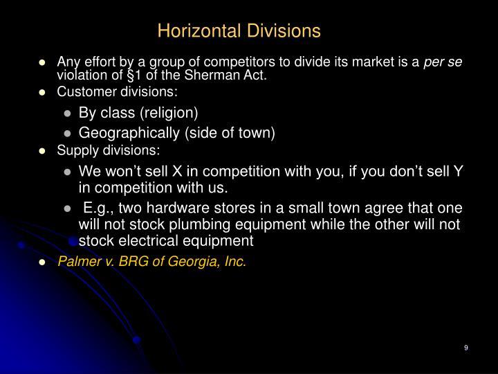 Horizontal Divisions
