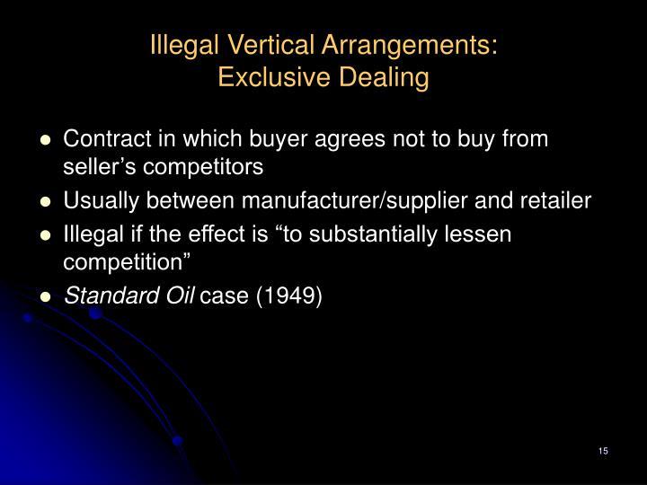 Illegal Vertical Arrangements: