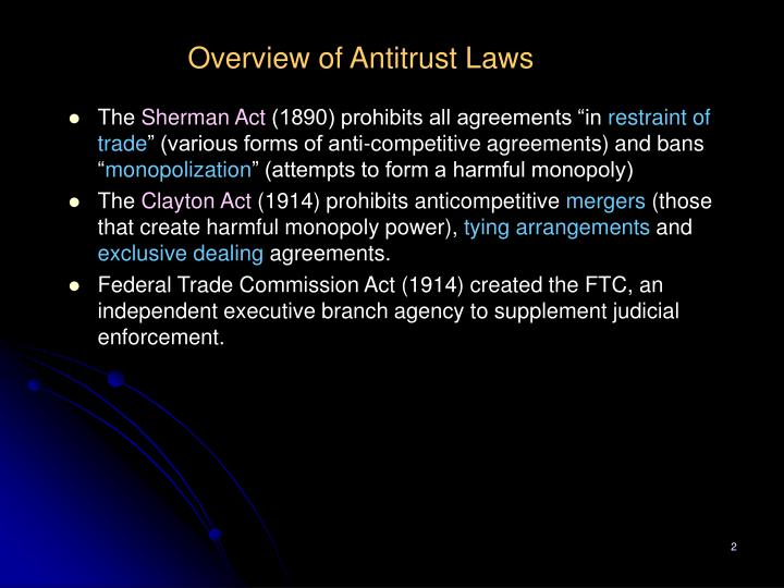 Overview of Antitrust Laws