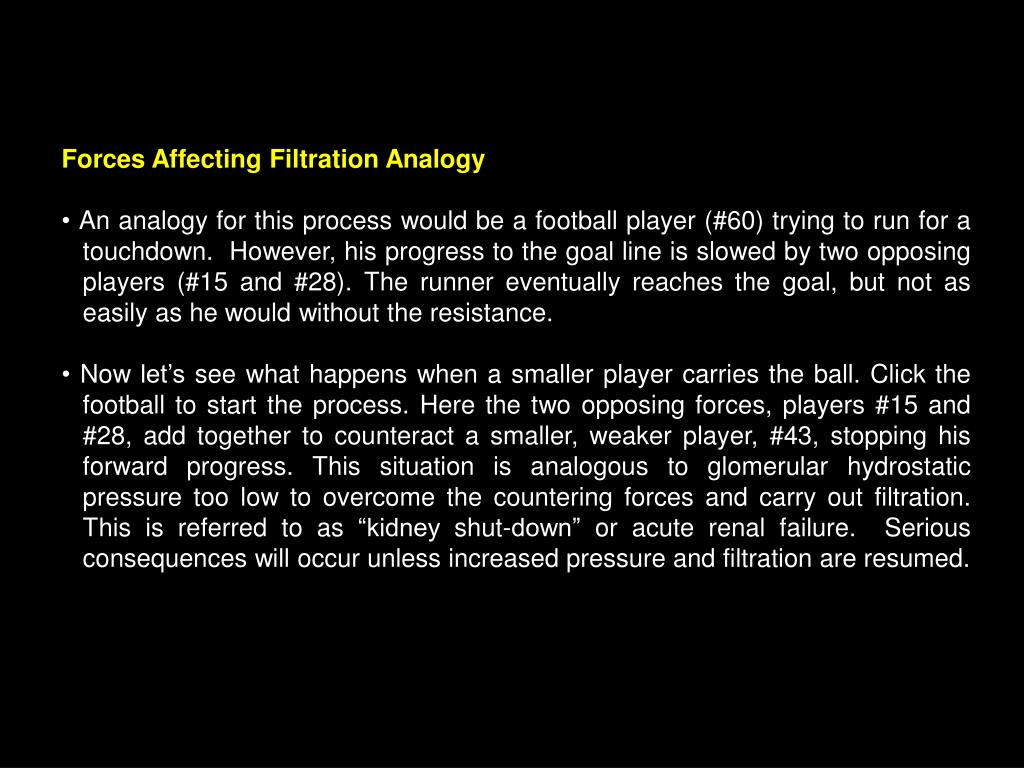 Forces Affecting Filtration Analogy