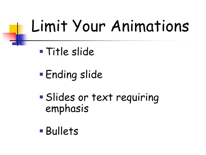 Limit Your Animations