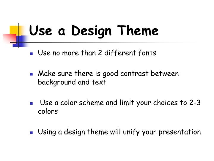 Use a Design Theme