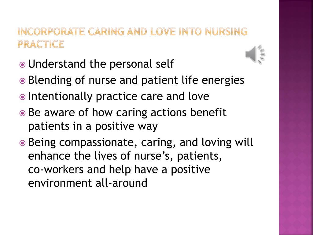 Incorporate caring