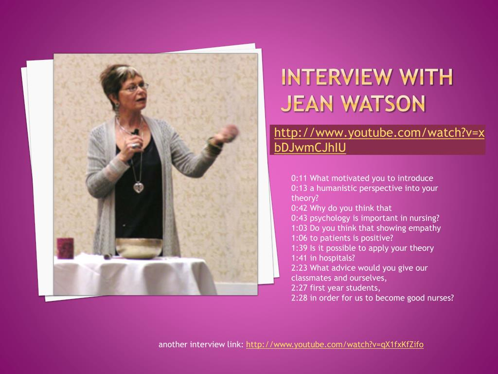Interview with Jean Watson
