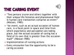 the caring event