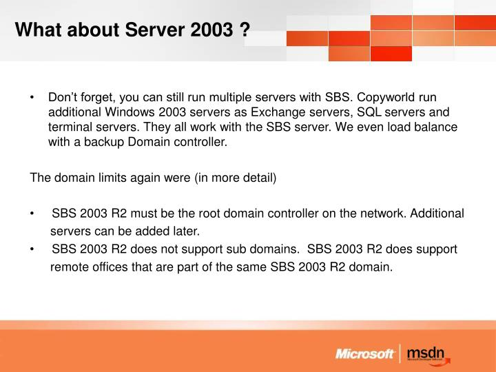 What about Server 2003 ?
