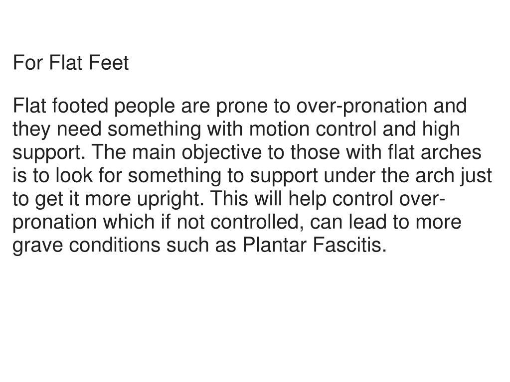For Flat Feet