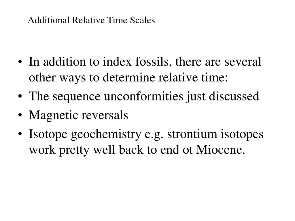 Additional Relative Time Scales