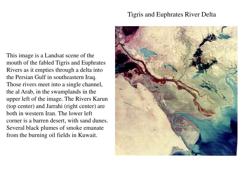 Tigris and Euphrates River Delta