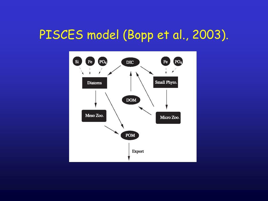 PISCES model (Bopp et al., 2003).