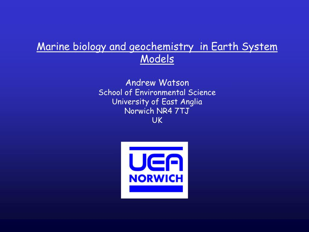 Marine biology and geochemistry  in Earth System Models