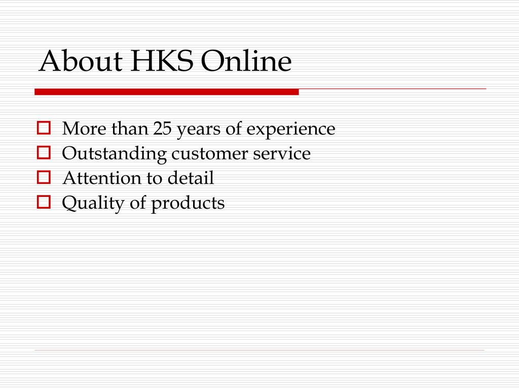 About HKS Online