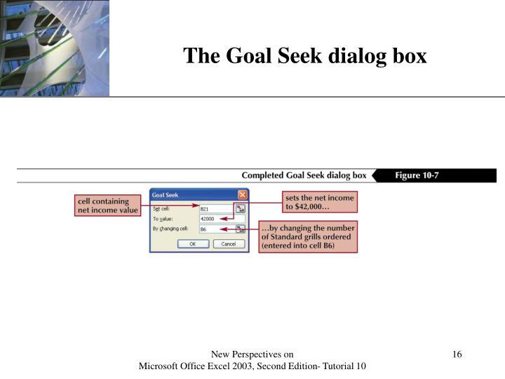 The Goal Seek dialog box