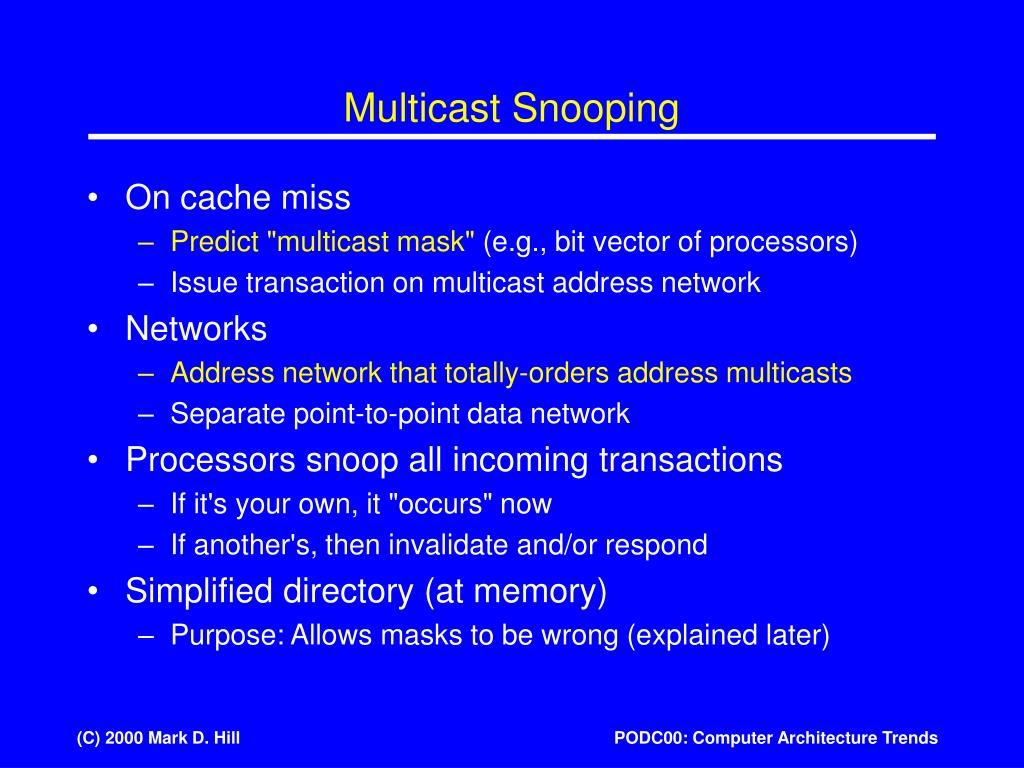 Multicast Snooping