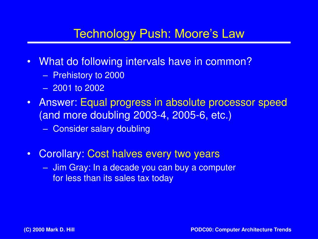 Technology Push: Moore's Law