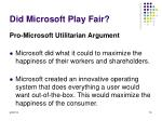 did microsoft play fair2