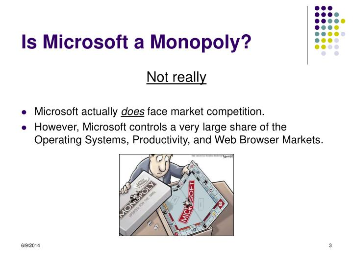 Is Microsoft a Monopoly?