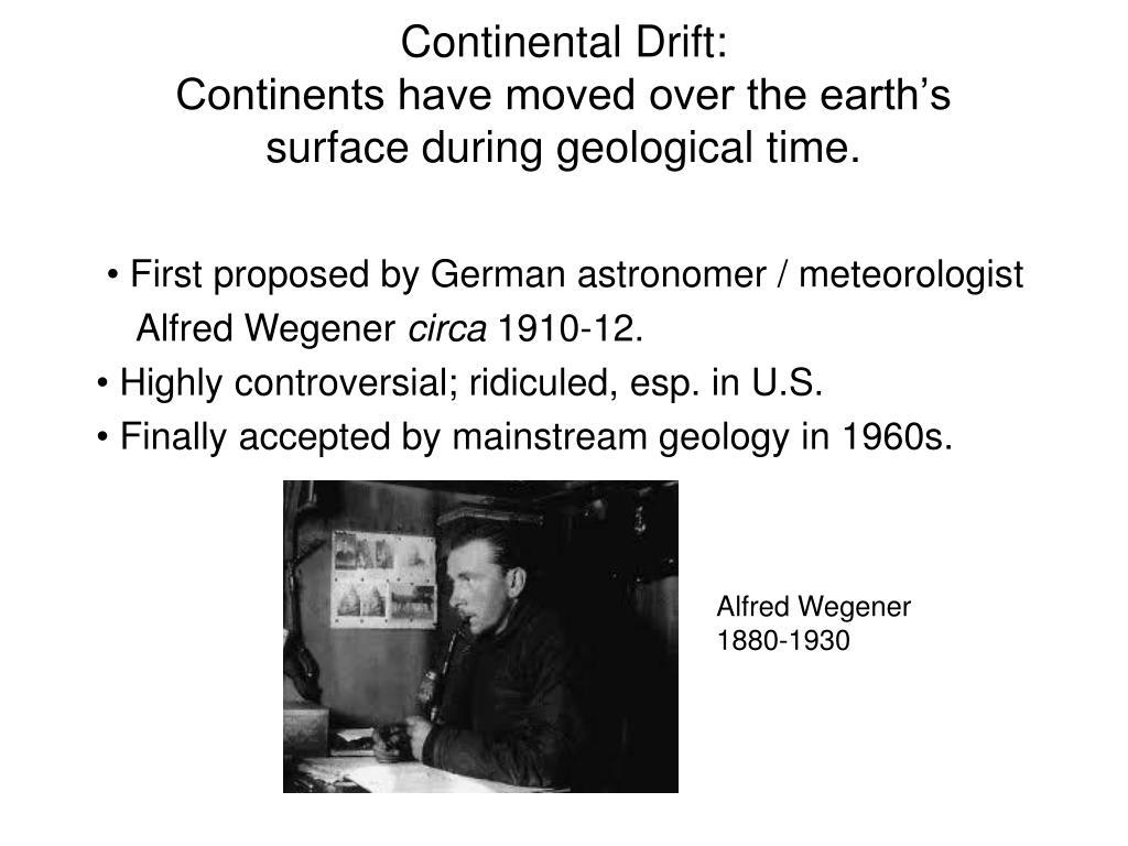 Continental Drift: