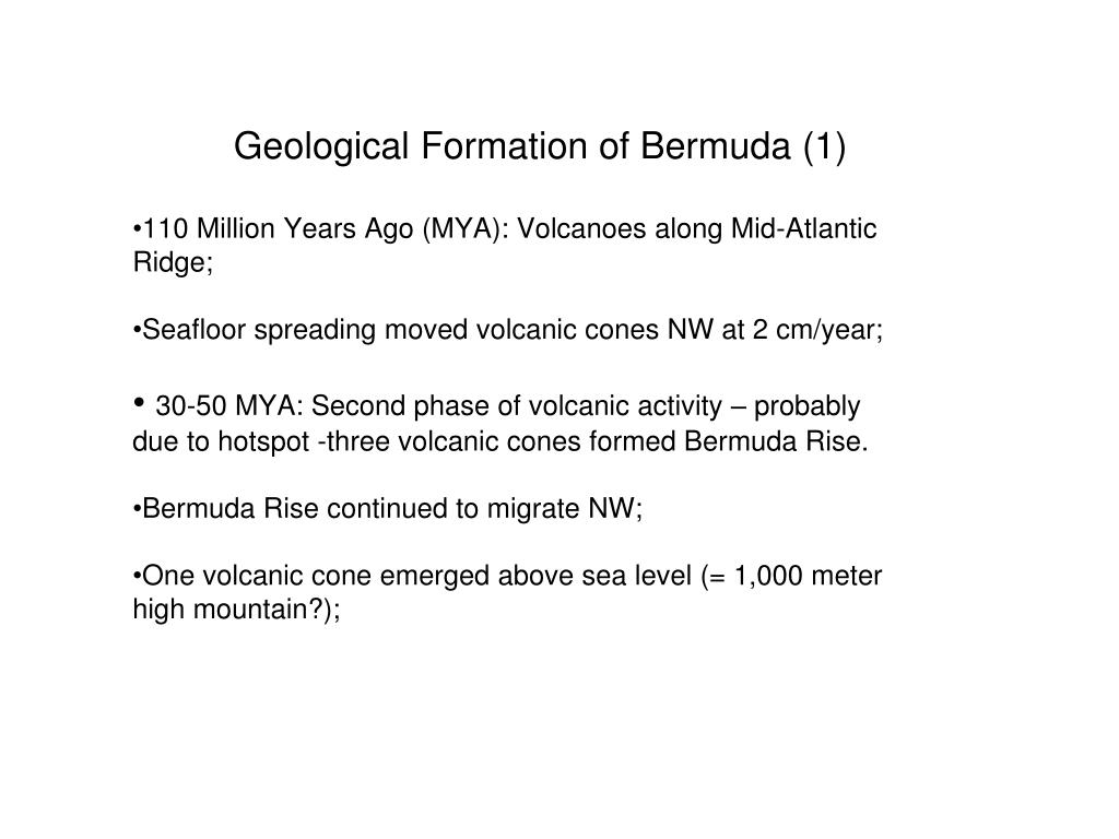 Geological Formation of Bermuda (1)