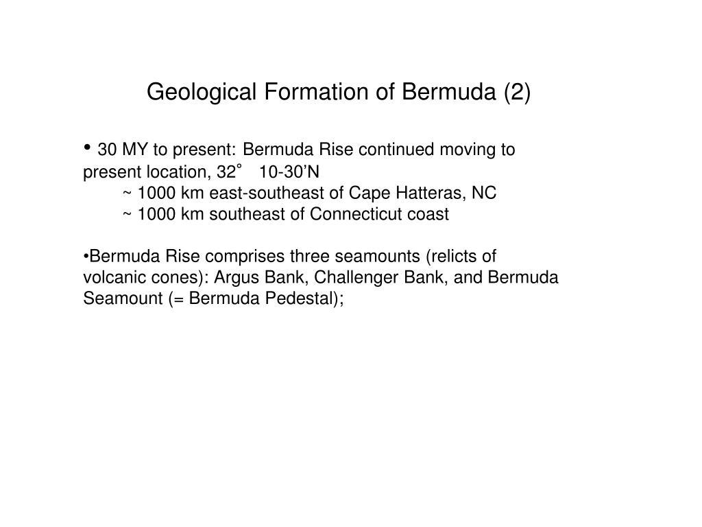 Geological Formation of Bermuda (2)