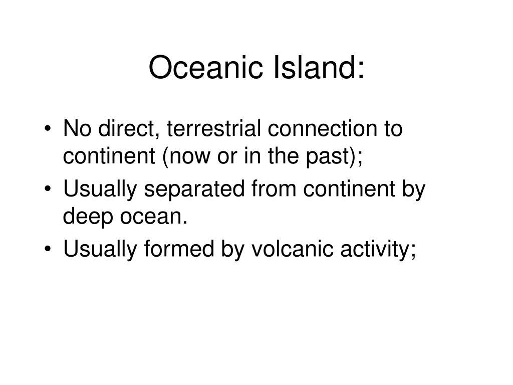 Oceanic Island: