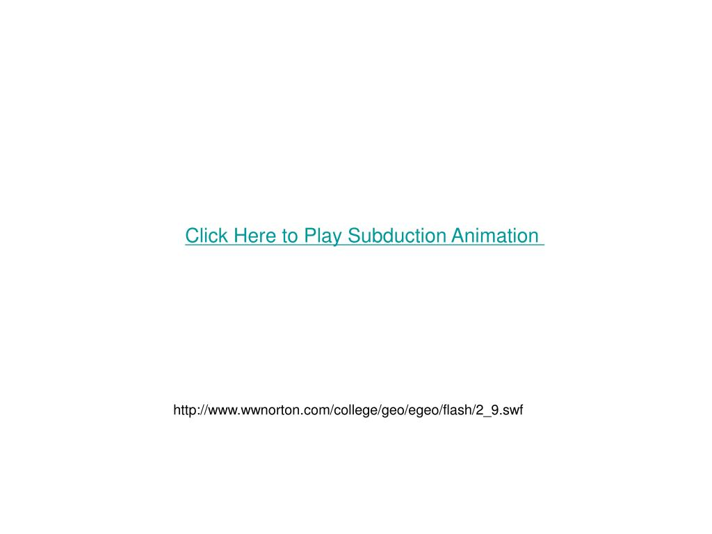 Click Here to Play Subduction Animation
