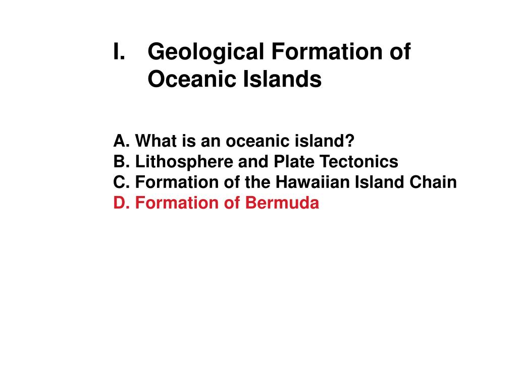 Geological Formation of Oceanic Islands