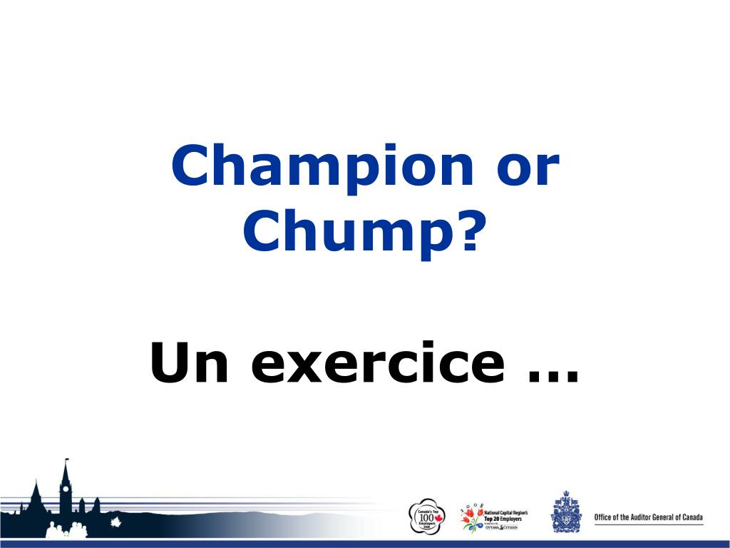 Champion or Chump?