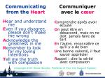 communicating from the heart